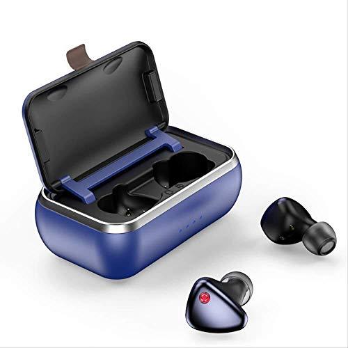 Casque sans Fil de Charge en Aluminium de Charge sans Fil Entrepôt TWS Bluetooth Elf Sblue (Couleur: Elf Sblue), Nom Couleur: Elf Sblue (Color : Elf Sblue)