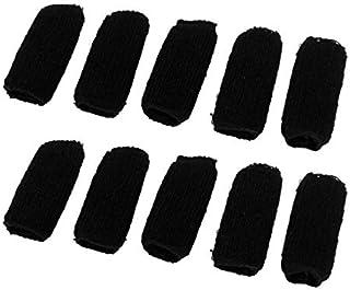 eDealMax Manga de la cubierta Mezclas de algodón Deportes Baloncesto aptitud dedo elástico 10 piezas Negro