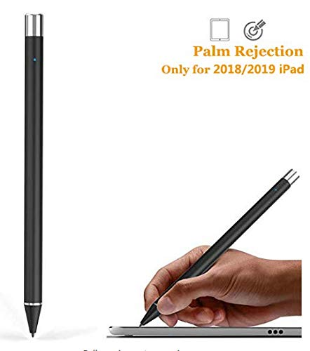 Stylus Pencil with Palm Rejection, Compatible for Apple iPad (7th/ 6th Gen), iPad Pro 12.9-Inch (3rd Gen), iPad Pro 11-Inch, iPad Air (3rd Gen), iPad Mini 5, iOS 12.2 and Above (Black)