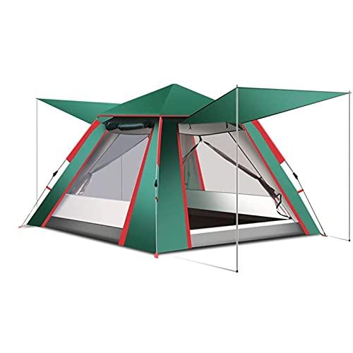 KJLY Tiendas de campaña Tienda de campaña 3-4 Hombre espesando tiendas emergentes Camping Familia al aire libre Portátil Playa Tienda solar protección protección impermeable, 210 * 210 * 140cm / 82.6x