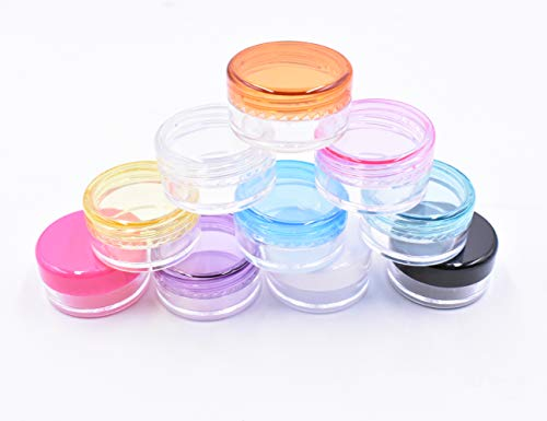 10 pack of 5 Gram Empty Cosmetic Containers, Round Cosmetic Sample...