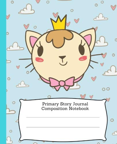 Cat Primary Story Journal Composition Notebook: Early Childhood to Kindergarten Kids Dotted Dashed Midline Creative Picture Space Notebook, Draw and Write K-2 Grade Level (Cool Cat Series)