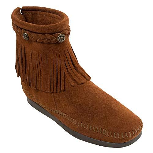 Minnetonka Minnetonka Hi Top Back Zip Boot 299 Damen Stiefel, Braun (Brown), 36.5 EU