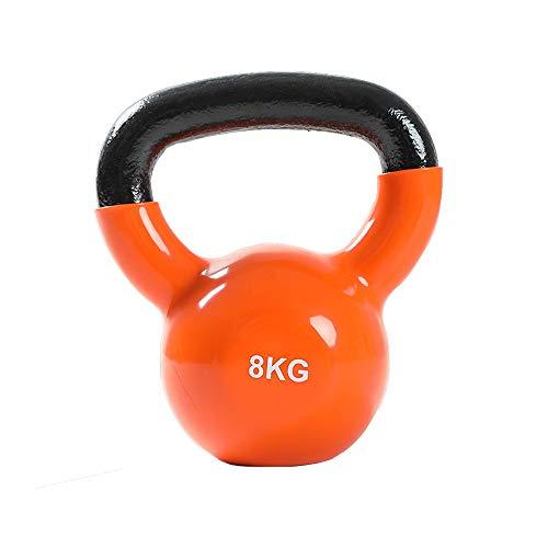 Equipo de entrenamiento SHPING Kettlebells, Pesas para Niñas, Equipo De Ejercicios para El Hogar, Brazos, Entrenamiento De Fuerza, Hierro Fundido Sólido (Size : 8kg)