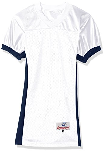 Intensity Youth Pro Cut Jersey, White/Navy, Medium