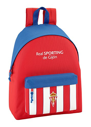 Safta Mochila juvenil Real Sporting De Gijon Oficial 330x150x420mm