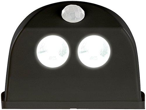 Luminea Türbeleuchtung: Batterie-LED-Türleuchte, Bewegungs-/Lichtsensor, 0,4 W, 50 lm, schwarz (LED-Aufbau-Lampen)