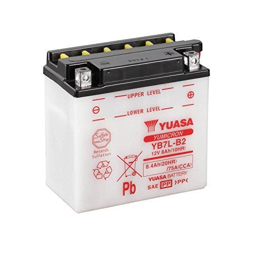 YUASA - Batería YB7L-B2 Dry charged (sin electrolito)