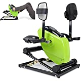 RainWeel Electric Pedal Exerciser Remote Control Fitness Motorized Mini Exercise Bike with Lcd Monitor Seniors Electric Pedal Exerciser