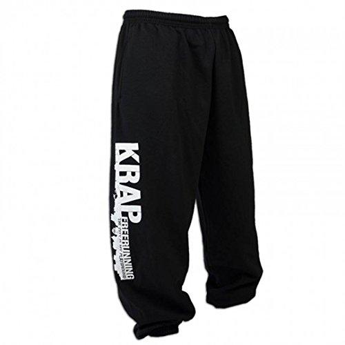 KRAP Pantalones Freerunning Negro (XL)