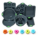 To encounter 31 Pieces Silicone Bakeware Set - 7 Silicone Baking Pans - 24 Silicone Donut Molds,...