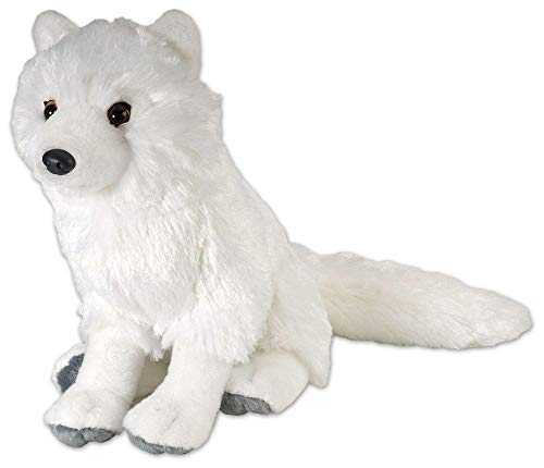 Wild Republic Arctic Fox Plush, Stuffed Animal, Plush Toy, Gifts for Kids, Cuddlekins 12 Inches