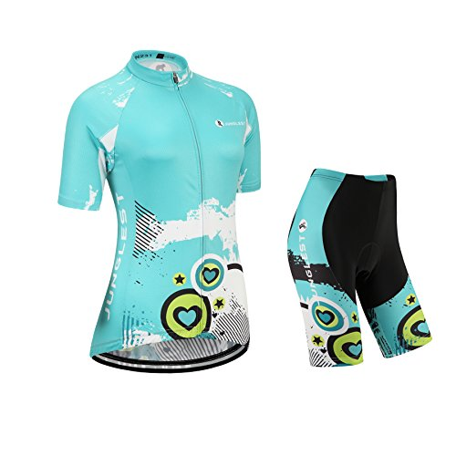 junglest Maillot Ciclismo Mujer Manga Corta Jersey(S~5XL,opción:Tirante,3D Cojín) N231