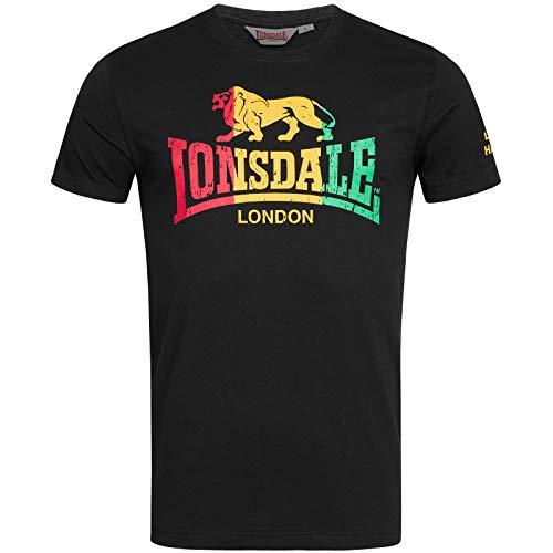 Lonsdale London Freedom Camiseta, Negro, Medium para Hombre