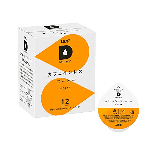 UCC ドリップポッド 専用カプセル カフェインレスコーヒー 12杯分 90g デカフェ・ノンカフェイン ポッド・カプセル