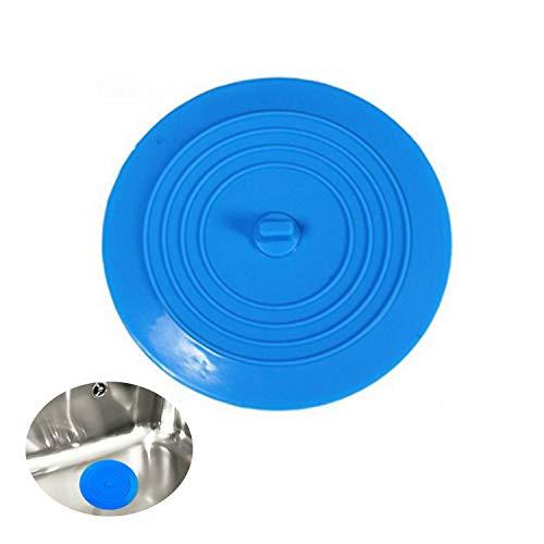 LEBQ 6 Pollici Silicone Tappo della Vasca da Bagno Stopper per Cucine, Bagni e Lavanderie (Blu)