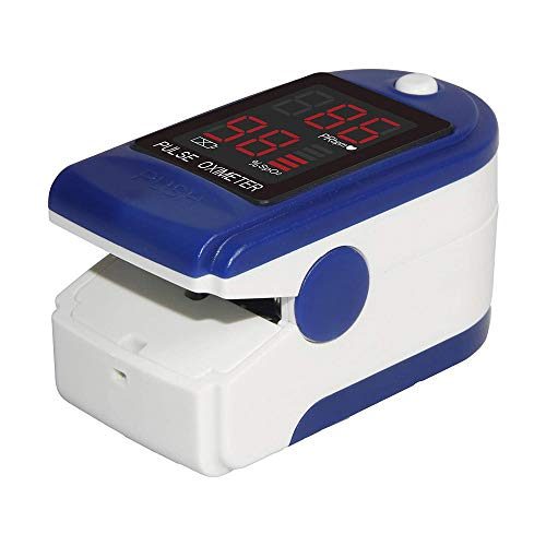 Oxímetro de Dedo, Medidor de Oxígeno en Sangre y Monitor de Frecuencia Cardíaca, Pulsioxímetro Oxígeno, para Uso doméstico y Deportivo