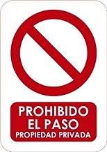 Oedim Señaletica para Exteriores Prohibido el Paso 21x14,8cm   Señaletica en Material Aluminio 3 mm Resistente y Barnizado