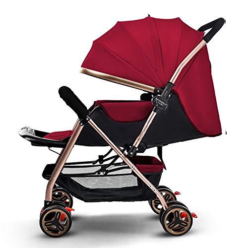 Poussettes Bébé léger Portable Haute Paysage Peut s'asseoir et Se Coucher Pliable poignée Simple Suspension réversible néonatale Buggy bébé Chariot