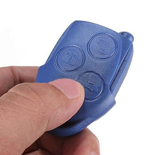 YTGUEVKDH 3 Botones Bule Remoto Fob Clave de Caso Cubierta de la cáscara Compatible with Ford