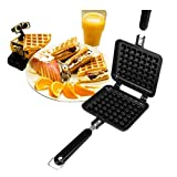 SHDS Máquina para Hacer gofres eléctrica máquina para Hacer donas y bocadillos para Brownie con Platos antiadherentes extraíbles máquina de Desayuno de Temperatura Ajustable