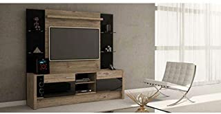 Manhattan Comfort -MC Morning Side Freestanding Theater Entertainment Center, 74.2x18.1x70.8, Nature And Black