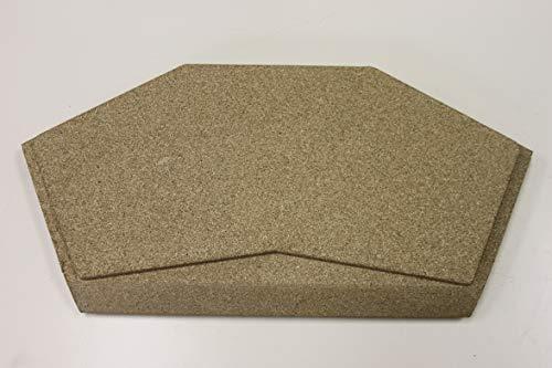 Manivelle pour poêle Olsberg Prismo 650 x 572 - Vermiculite - Pièce de rechange pour cheminée