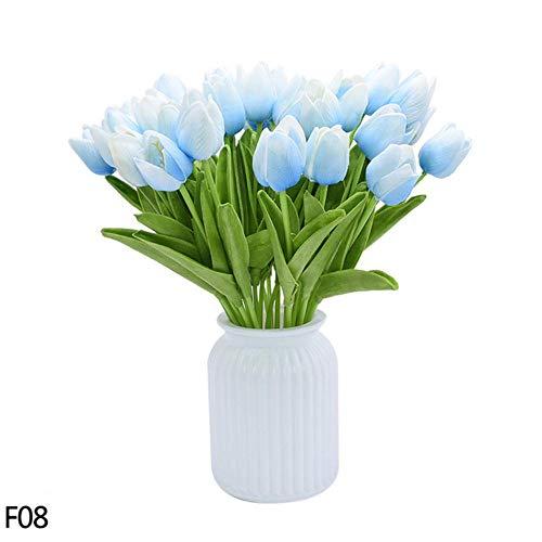OGM 10/30 stks Kunstbloemen PU Tulp Boeket Nep Bloem