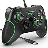 YCCSKY Wired Controller for Xbox One, Xbox One Wired Gaming Controller for Xbox One PC Windows 7/8/10,with Audio Jack Dual-V Turbo (Black)