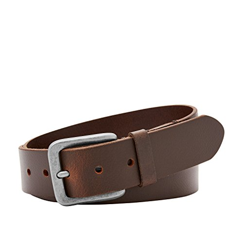 Fossil Men's Otis Leather Belt, Brown, Size 32