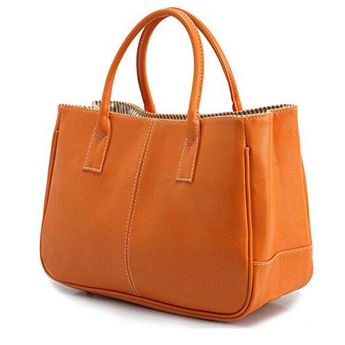 DELEY Mode Damen Einfaches Design Business Henkeltasche Handtasche Büro Umhängetasche Orange