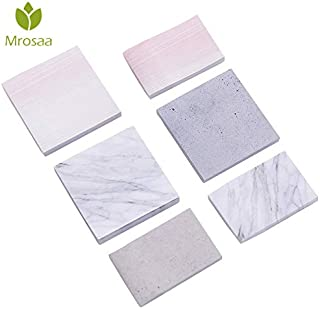Memo Pads - Creative Marble Color Self Adhesive Memo Pad Stone Style Sticky Notes memo Bookmark School Office Stationery Supply - by SeedWorld - 1 PCs