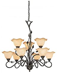 light allen winnsboro scheme bronze rubbed roth oil lighting dining at room shop of chandelier