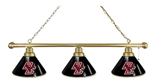 Boston College 3 Shade Billiard Light with Brass Fixture by Holland Bar Stool