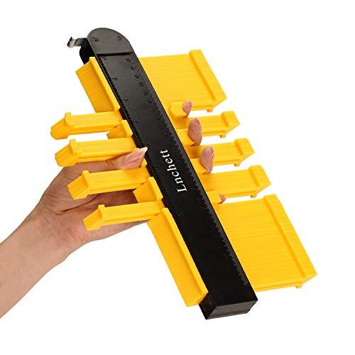 Konturenlehre 25,4 cm Profillehre, rostfreie ABS-Kontur, präzises Messwerkzeug für alle unregelmäßigen Formen, unverzichtbares Werkzeug für Heimwerker, Holzbearbeitung, Bau