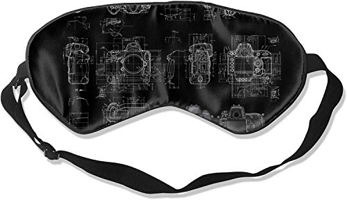 Video Camera Print Comfortable Soft Best Sleeping Eyeshade * with Adjustable Strap for Travel Work Naps Blocks Light-Camera Print2-One Size100% Silk Sleep Mask Eye Mask