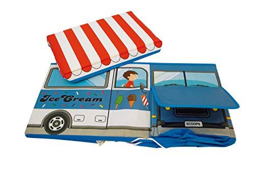 """Bieco Spielzeugtruhe und Sitzbank """"Icecreme"""", faltbar, 55×26,5×31,5cm - 3"""