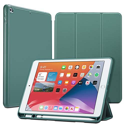 ESR iPad 10.2 Hülle mit Stifthalter für iPad 8.Generation 2020 / iPad 7.Generation 2019, mit Pencil Halter [Trifold Ansichtsständer] [Auto Schlaf-/Weckabdeckung] Rebound Series - Kaktus