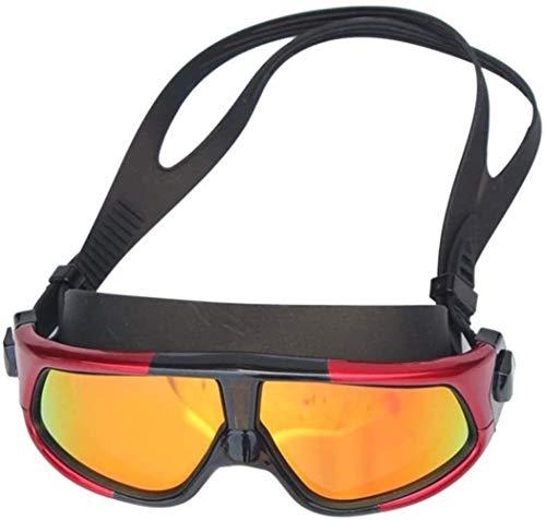 Plztou Gafas de natación Hombre y for Mujer de Trama Grande Impermeable y Anti Niebla de Alta definición Que nadan los vidrios for Adultos for al Aire Libre (Color : Black, Size : Free Size)