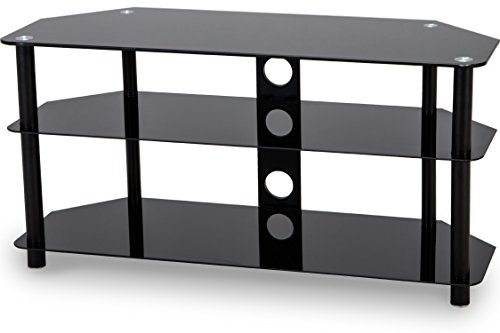 Stealth Mounts 35430 1000mm Glass TV Stand for 3D/LED/LCD/Plasma TVs Up To 50 - Black