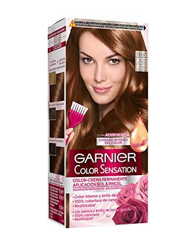 Garnier Color Sensation - Tinte Permanente Rubio Caramelo 6.35, disponible en más de 20 tonos