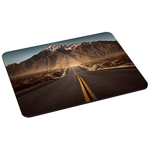 PEDEA Gaming und Office Mauspad - 220 x 180 mm - mit vernähten Rändern und rutschfester Unterseite, highway
