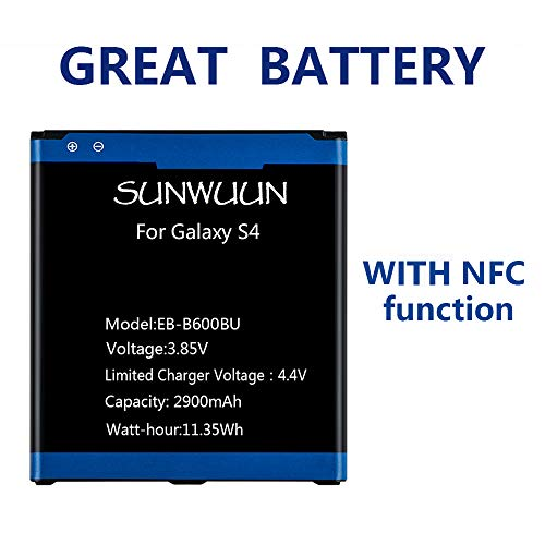 Sunwuun 2900mAh Galaxy S4 Li-ion Replacement Battery with NFC Function...