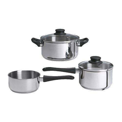 IKEA set di pentole da cucina  Annons  5-pezzi Utensili da cucina in acciaio inox pentole per cottura a induzione