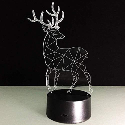 3D Illusion 7 Color Touch Box Deer Lava Sin marca 7 colores Cambio de lámpara de escritorio táctil para niños Cumpleaños Regalos de Navidad