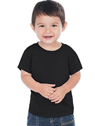 Kavio! Unisex Infants Crew Neck Short Sleeve Tee (Same IJC0432) Black 24M