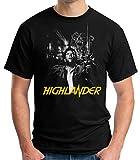 35mm - Camiseta Hombre Highlander - Los Inmortales - Pelicula De Culto - 80's - Negro - Talla s