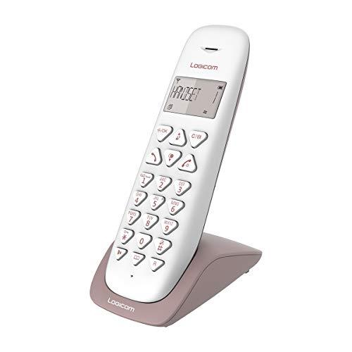 Telephone fixe sans fil - Téléphone fixe sans fil sans Répondeur - Solo - Téléphones analogiques et dect - Logicom VEGA 150 Téléphone Fixe sans Fil Taupe