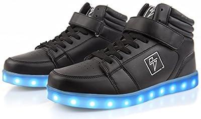 Electric Styles LED High Top Glow Sneakers 11 Men Black