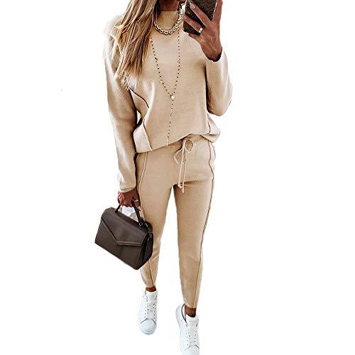 Godoboo Damen Jogginganzug Trainingsanzug Freizeitanzug Frauen gefütterter Women's Lined Leisure Suit Women's sports suit Hausanzug Fitnessanzug Freizeitanzug Trainingsanzüge für Damen Set